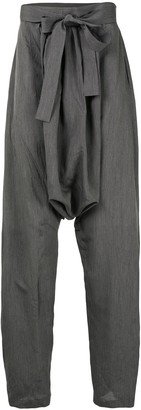 Hed Mayner Dropped-Crotch Tie-Waist Trousers