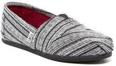 Toms Classic Silver Metallic Stripe Slip-On