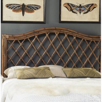 Beachcrest Home Bungalo Open-Frame Headboard Size: Full, Color: Brown