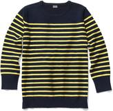 Kule Preston Cashmere Stripe Sweater - Navy/Yellow