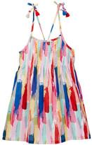 Andy & Evan Brush Stroke Print Voile Dress (Toddler & Little Girls)