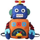 MRSMR Kids Boys Girls Backpack Robot Toddler Anti-lost Shcoolbag