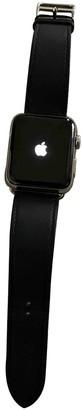 Hermes Apple Watch x 42mm Black Steel Watches