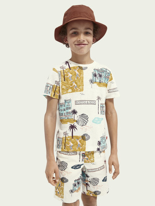 Scotch & Soda All-over print hemp-organic cotton blend T-shirt | Boys