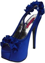 "BORDELLO TEE56 Women's Adorable Peep Toe Sling Back Sandal 5 3/4"" Stiletto Heel, Color:, Size:7"