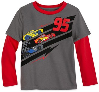 Disney Lightning McQueen Long Sleeve Layered T-Shirt for Boys Cars