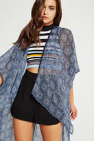 BCBGeneration Embroidered Lace Wrap - Blue