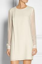 Thakoon Silk chiffon-sleeved cotton dress