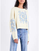 Undercover Cropped cotton-jersey sweatshirt
