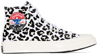 Converse Chuck 70mm flocked leopard-print high top sneakers