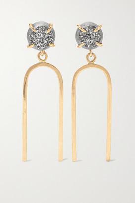 Melissa Joy Manning 14-karat Gold Druzy Earrings - one size