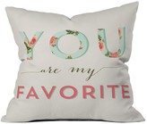 DENY Designs Allyson Johnson Floral You Are My Favorite Throw Pillow