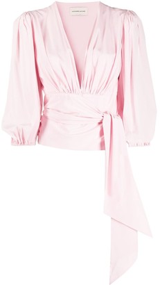Alexandre Vauthier Draped Wrap Top