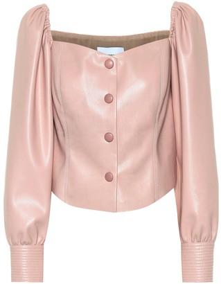 Nanushka Exclusive to Mytheresa Irene faux leather top