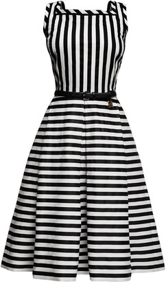 Riviera Rumour London Striped Sleeveless Dress