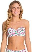 Betsey Johnson Garden Rose Bump Me Up Underwire Bandeau Bikini Top 8126763