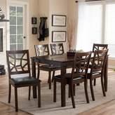 Baxton Studio Mozaika Dining Table & Chair 7-piece Set