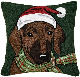 C&F Home Dachshund Hooked Decorative Accent Throw Pillow
