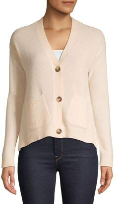 En Thread Relaxed-Fit Button-Front Cashmere Cardigan