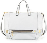 Botkier Honore Perforated Leather Hobo Bag, White