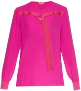 Edun Long-sleeved silk-chiffon blouse