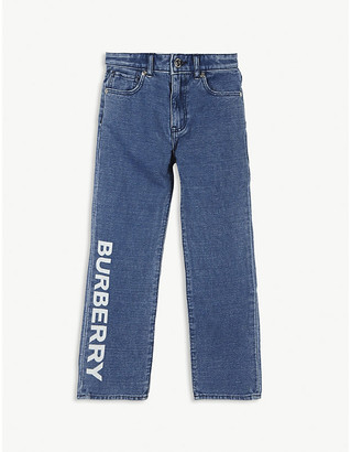 Burberry Logo-print cotton and linen jeans 3-14 years