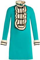 Gucci Ruffle-trimmed crepe-jersey dress