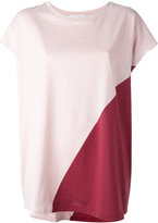 Stefano Mortari colour block T-shirt - women - Cotton - One Size