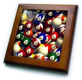 Pool' 3dRose LLC ft_962_1 Billiards - Billiard Balls Pool - Framed Tiles