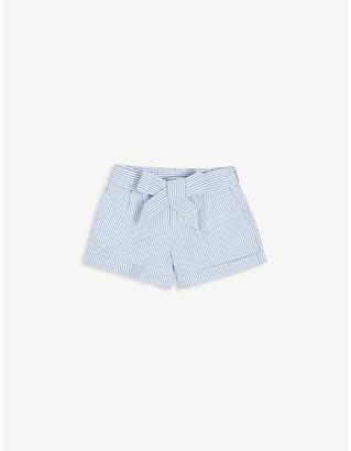 Ralph Lauren Belted cotton seersucker shorts 2-14 years
