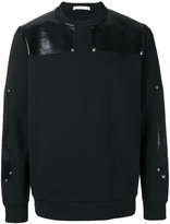 Givenchy eco leather patch sweatshirt - men - Cotton - S