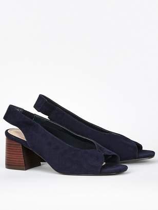 Evans Extra Wide Fit Halley Heel Shoes - Navy