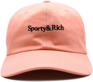 Sporty & Rich Embroidered Cotton-Twill Baseball Cap