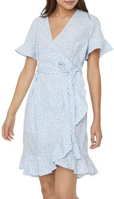 Vero Moda Henna 2/4 Wrap Midi Dress Blue