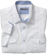 Johnston & Murphy Textured Stripe Camp Shirt