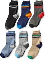 Jefferies Socks Big Boys' Stripe Crew Socks 6 Pack