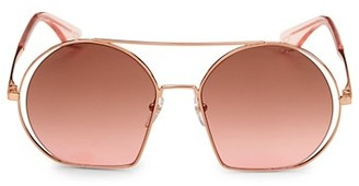 Marc Jacobs 56MM Geometric Round Sunglasses
