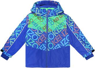 Kenzo Kids Printed ski jacket