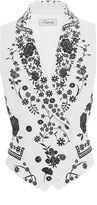 Temperley London Ivory and Black Lettie Tuva Waistcoat