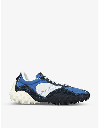 Eytys Fugu spike textile and leather trainers