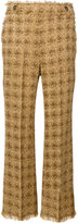 MSGM tweed knit trousers - women - Cotton/Polyamide/Polyester/Wool - 38