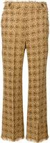 MSGM tweed knit trousers - women - Cotton/Polyamide/Polyester/Wool - 42