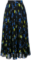 MSGM fish print pleated midi skirt - women - Polyester - 44