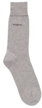 HUGO BOSS Regular-length socks in mercerised cotton with contrast logo