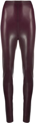Saint Laurent High-Waisted Latex Leggings