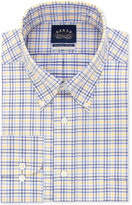 Eagle Men's Classic-Fit Non-Iron Stretch Collar Yellow Check Dress Shirt