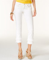 MICHAEL Michael Kors Cotton Frayed Skinny Jeans