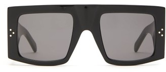 Celine Oversized Flat-top Acetate Sunglasses - Black