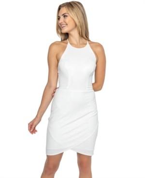B. Darlin Juniors' Tie-Back Shimmer Bodycon Dress