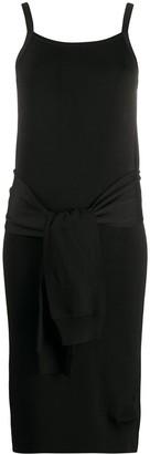 Helmut Lang tie waist dress